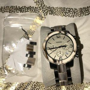 Ladies Fossil Natalie Chronograph Watch JR1383